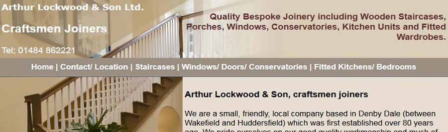 Arthur Lockwood and Son, Craftsmen joiners